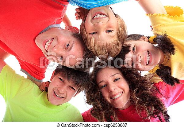 幸せな微笑すること, 子供 - csp6253687