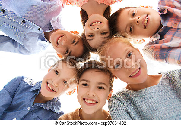 幸せに微笑する, 子供, 顔 - csp37061402