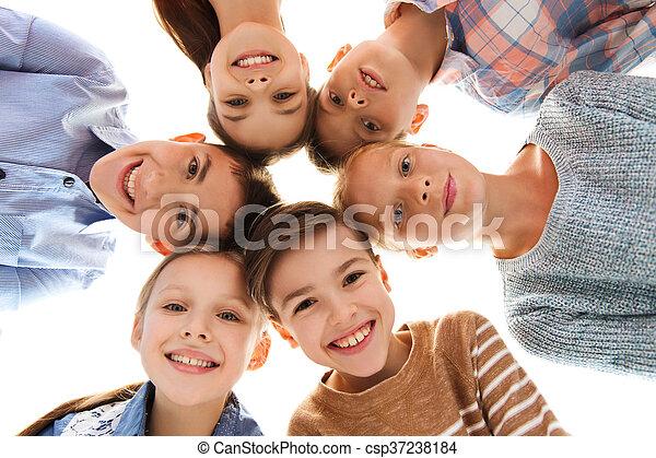 幸せに微笑する, 子供, 顔 - csp37238184