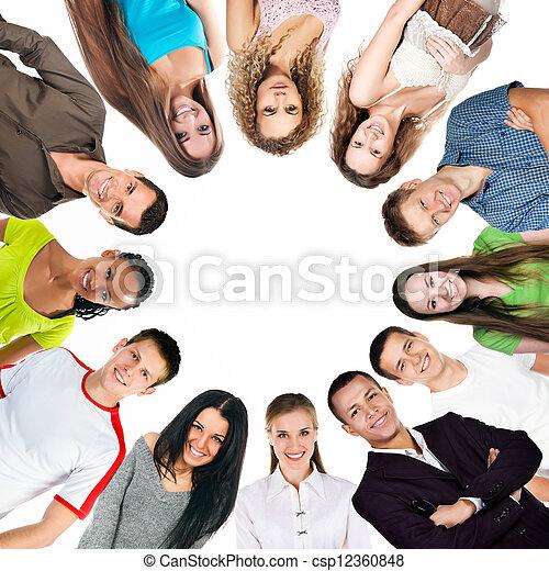 幸せ, グループ, 人々 - csp12360848