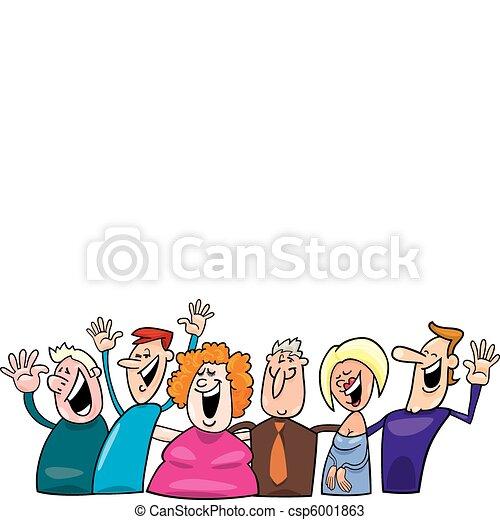 幸せ, グループ, 人々 - csp6001863