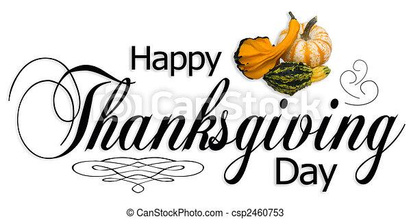 幸せ, タイプ, 感謝祭, 日 - csp2460753