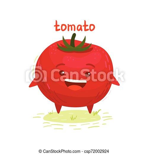 幸せ, トマト, 微笑, かわいい - csp72002924