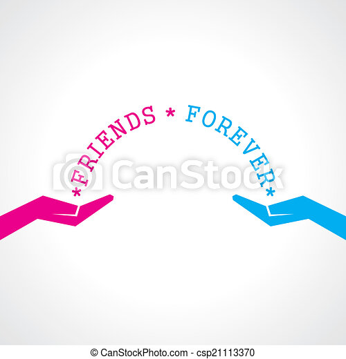 幸せ, 友情, 日, カード, 挨拶 - csp21113370