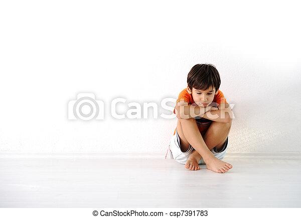 幸せ, 屋内, 子供, 家, モデル - csp7391783
