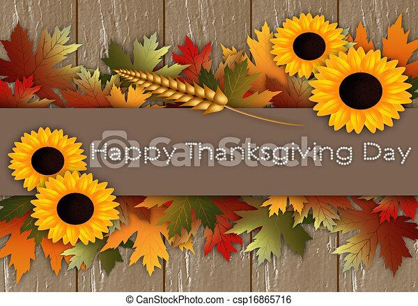 幸せ, 感謝祭, 日 - csp16865716