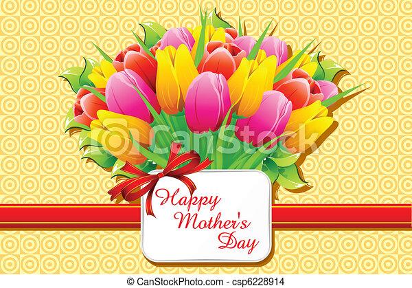 幸せ, 日, カード, 母 - csp6228914