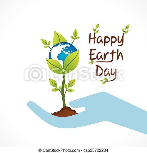 幸せ, 日, 地球, デザイン - csp25722234