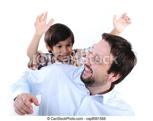 幸せ, 父, 息子 - csp8061568