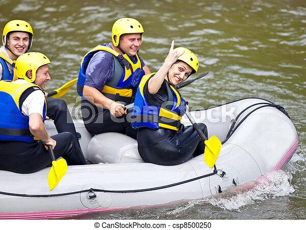 幸せ, rever, ボート, 人々 - csp8500250