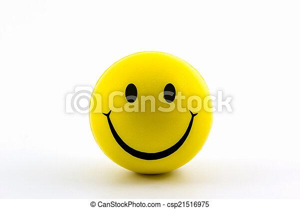 幸せ, smiley, 黄色, ball., 顔 - csp21516975