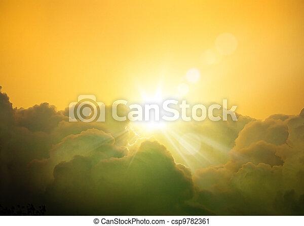 幻想, 藝術, 背景, cloudscape - csp9782361