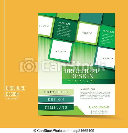 幾何学的, 現代, スタイル, フライヤ, テンプレート - csp21668109