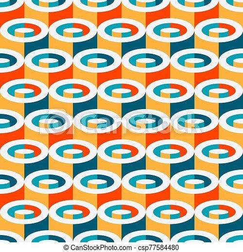 幾何学的, seamless, 多色刷り, パターン, 円筒状である - csp77584480