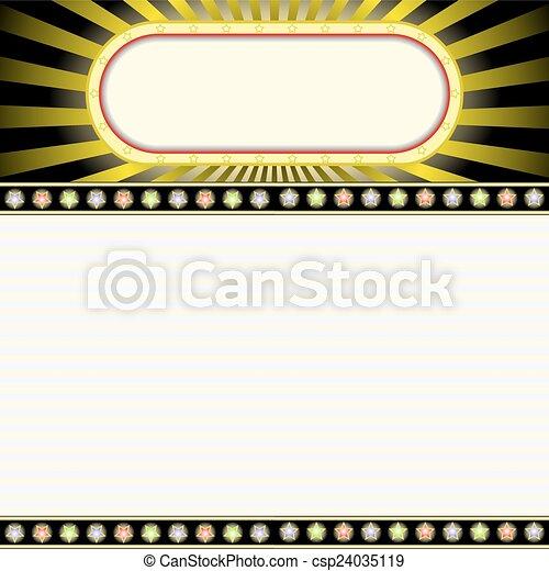 広告板, 白熱 - csp24035119