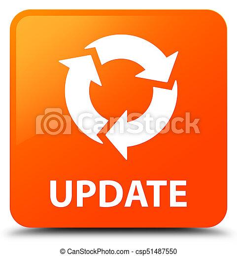 広場, ボタン, 更新, オレンジ, (refresh, icon) - csp51487550