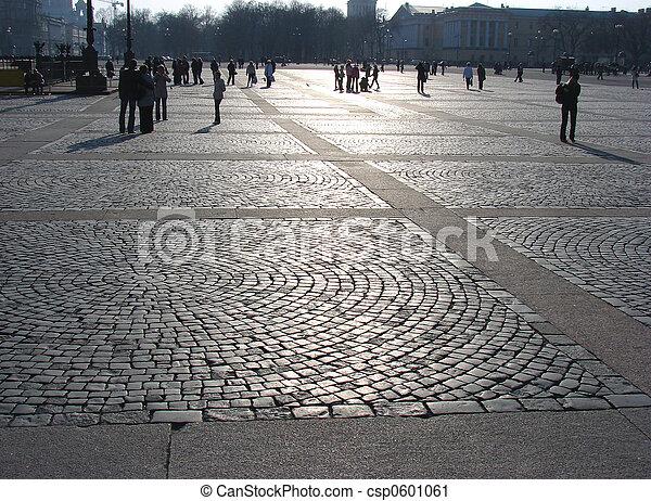 広場, 人々 - csp0601061