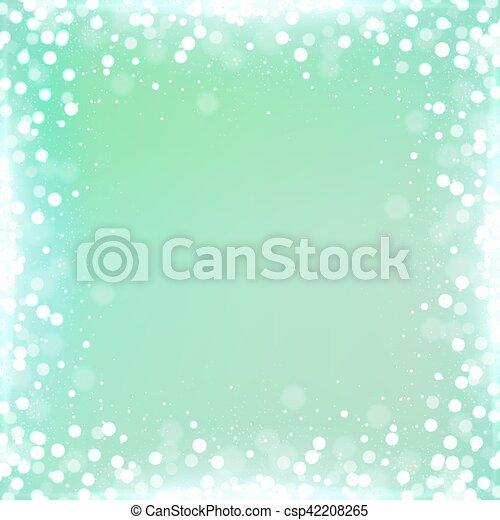 広場, 勾配, ミント, bokeh, 緑の背景, ボーダー - csp42208265
