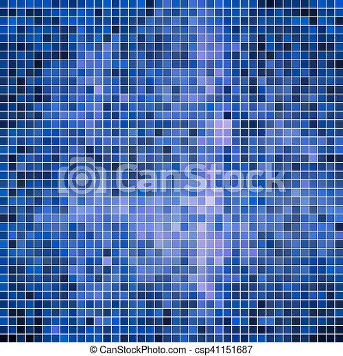 広場, 抽象的, ベクトル, 背景, ピクセル, モザイク - csp41151687