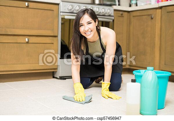 台所 床 掃除