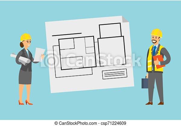 床, 案, 計画, 案, エンジニア - csp71224609