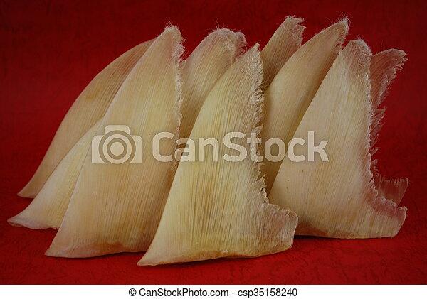 店, サメ, 中国語, ひれ, 伝統的である, 乾かされた - csp35158240