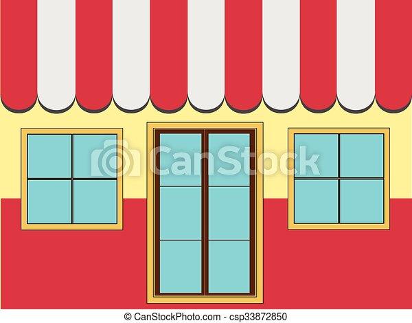 店, ファサド, (vector) - csp33872850