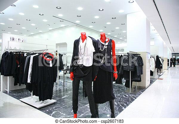 店, マネキン, 衣服 - csp2607183