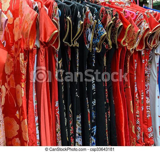 店, 伝統的な衣類, 中国語 - csp33643181