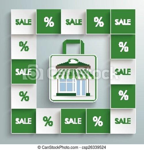 店, 正方形, 有色人種, bio - csp26339524