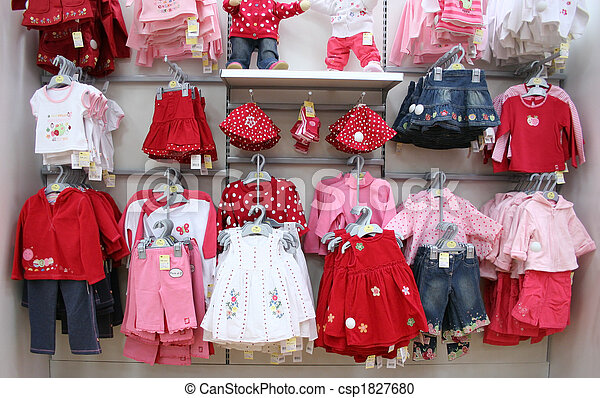 店, 赤ん坊, 衣服 - csp1827680