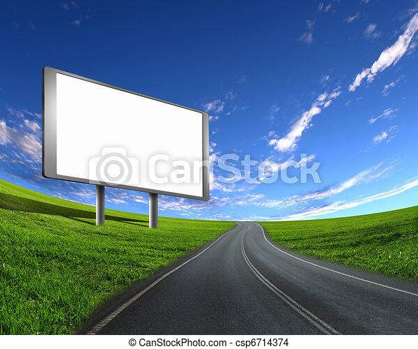 廣告欄, 路 - csp6714374