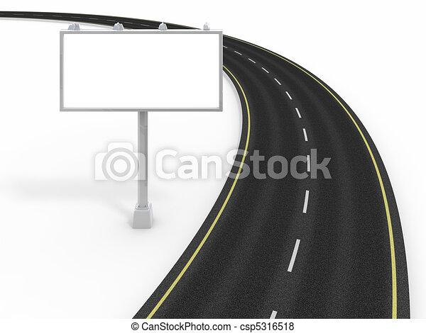 廣告欄, 路 - csp5316518