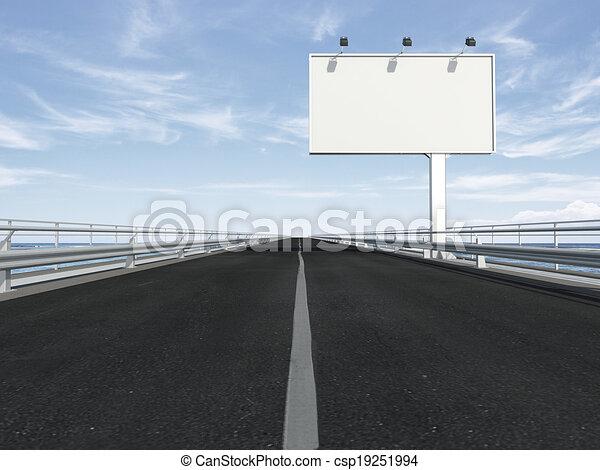 廣告欄, 高速公路, 空白 - csp19251994