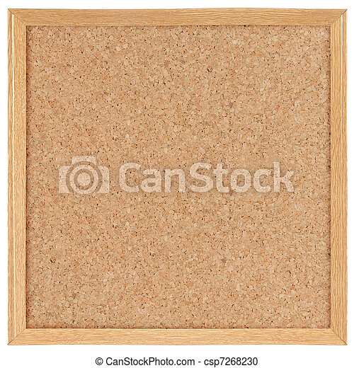 廣場, 板, 軟木塞 - csp7268230