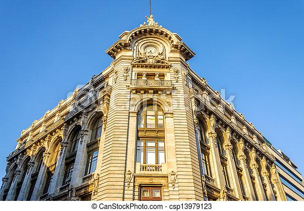 建物の正面, 歴史的 - csp13979123