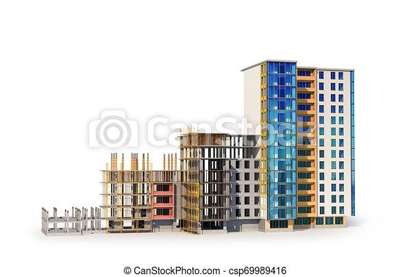建物構造, construction., イラスト, 3d - csp69989416