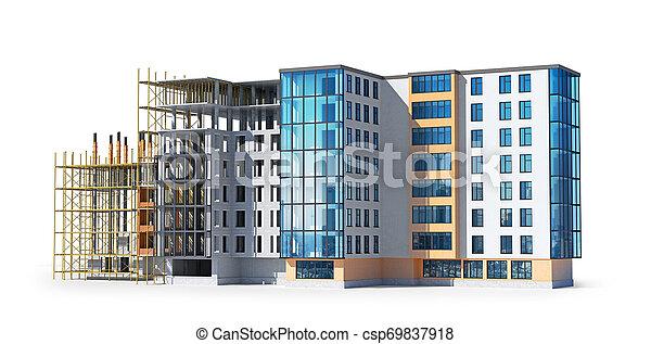 建物構造, construction., イラスト, 3d - csp69837918