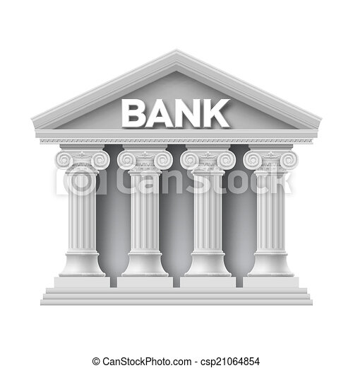 建物石, 銀行 - csp21064854