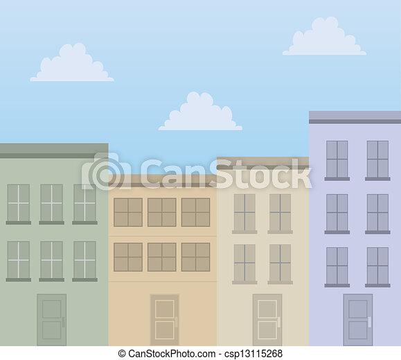建物, アパート - csp13115268