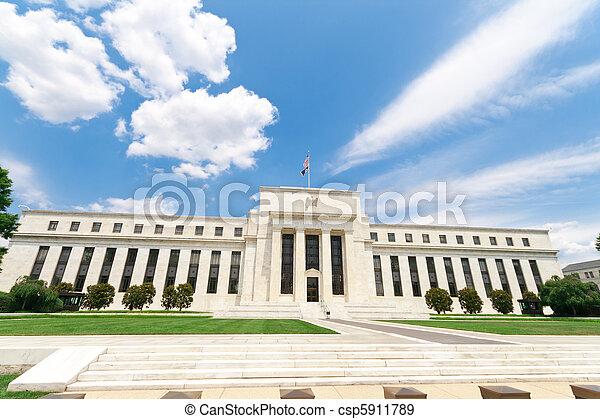 建物, アメリカ, 連邦である, washington d.c., 銀行, 予備 - csp5911789