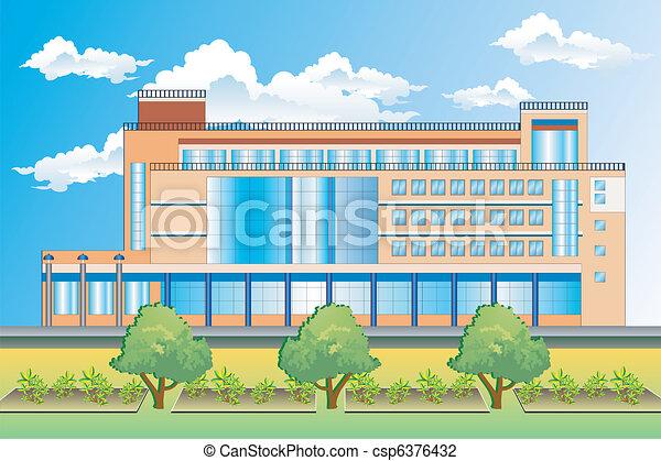 建物, オフィス - csp6376432