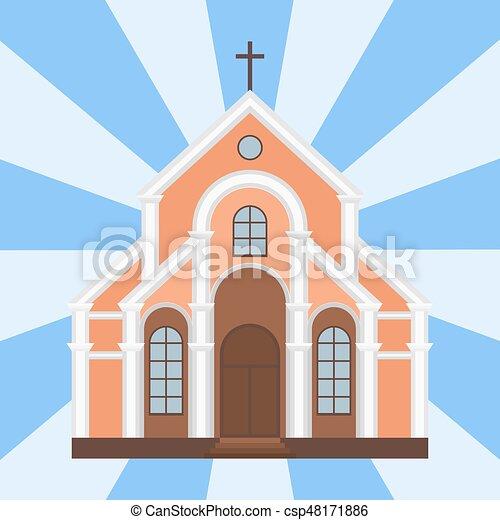 建物 カトリック教 イラスト 伝統的である ベクトル 教会 ランド