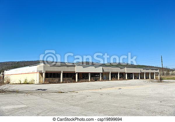建物, コマーシャル, 捨てられた - csp19899694