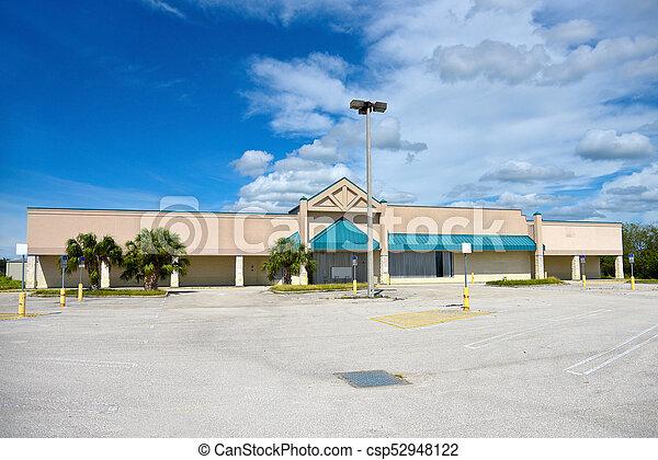建物, コマーシャル, 捨てられた - csp52948122