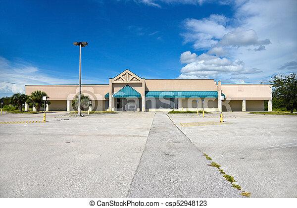 建物, コマーシャル, 捨てられた - csp52948123