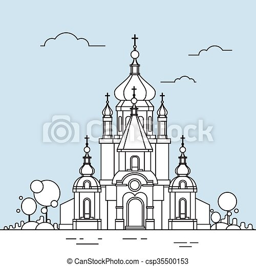 建物 チャペル 薄くなりなさい 教会 ロゴ 線 光景 アイコン 建物
