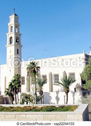 建物, ピーター, st., 教会, jaffa, 2011 - csp22244103