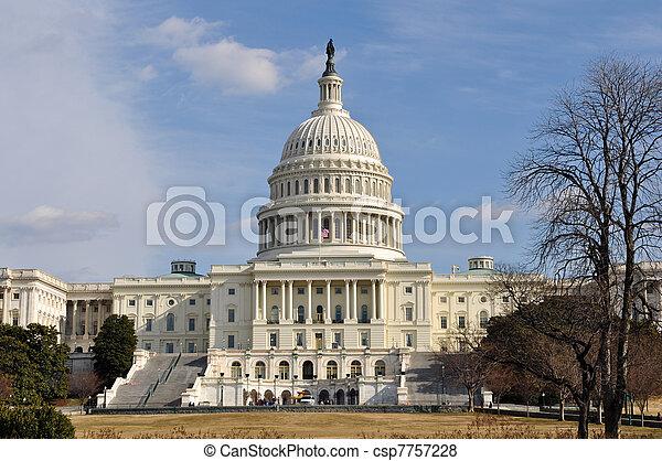 建物, ワシントン, 丘, 国会議事堂, dc - csp7757228