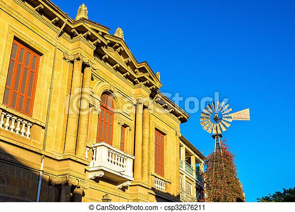 建物, 中心, -, 歴史的, キプロス, nicosia - csp32676211